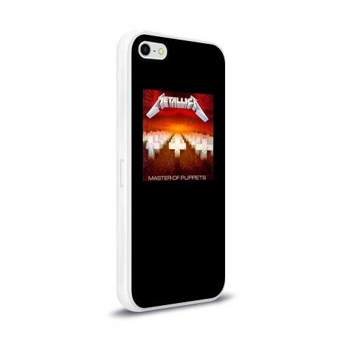Чехол для Apple iPhone 5/5S силиконовый глянцевый  Фото 02, Metallica 2