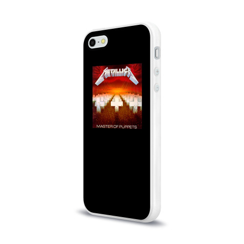 Чехол для Apple iPhone 5/5S силиконовый глянцевый  Фото 03, Metallica 2