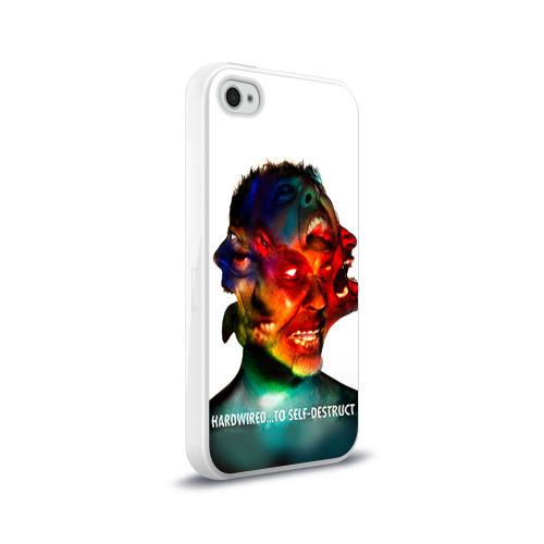 Чехол для Apple iPhone 4/4S силиконовый глянцевый  Фото 02, Metallica 4