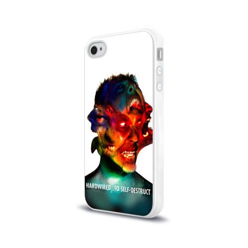 Чехол для Apple iPhone 4/4S силиконовый глянцевый  Фото 03, Metallica 4