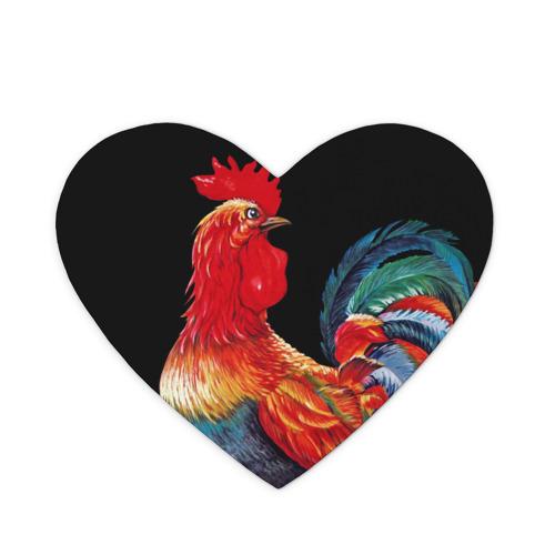 Коврик сердце  Фото 01, Петух cимвол 2017 года