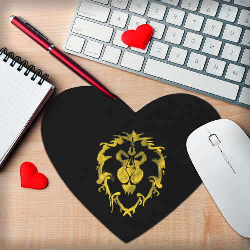 Коврик для мыши сердце  Фото 02, Альянс