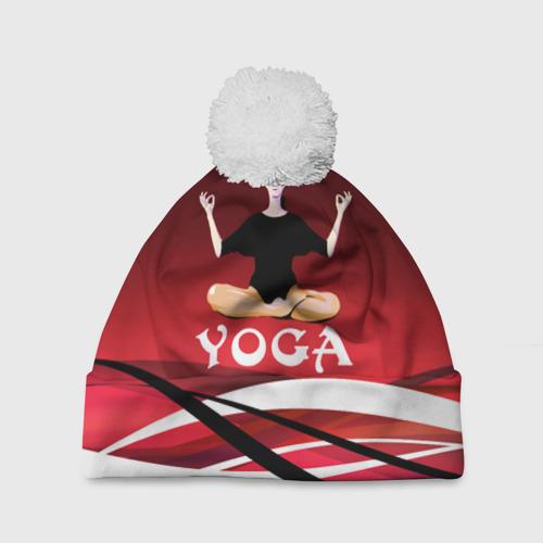 Шапка 3D c помпоном  Фото 01, Yoga