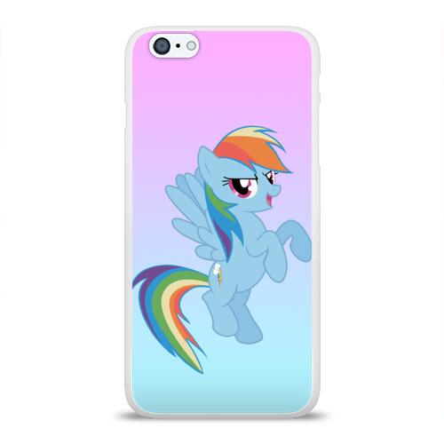 Чехол для Apple iPhone 6Plus/6SPlus силиконовый глянцевый  Фото 01, Rainbowdash