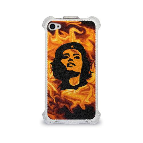 Чехол для Apple iPhone 4/4S flip  Фото 01, Revolutionary girl