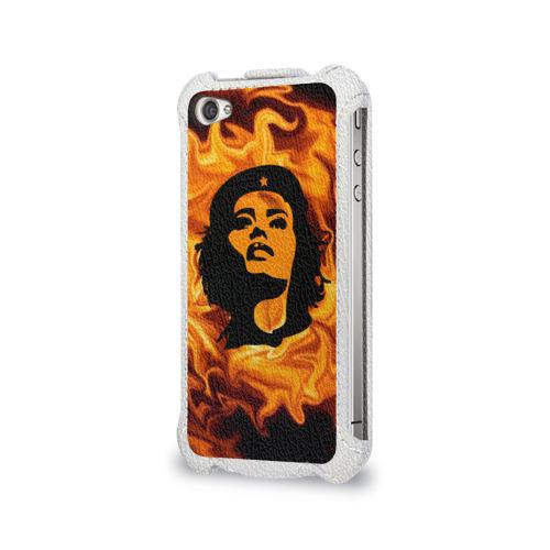 Чехол для Apple iPhone 4/4S flip  Фото 03, Revolutionary girl