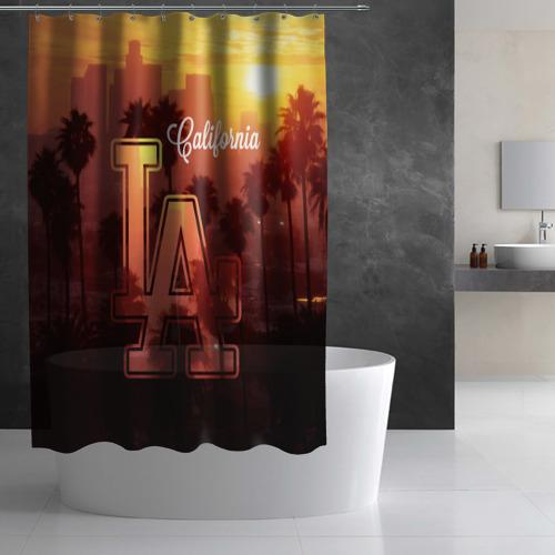 Штора 3D для ванной Калифорния Фото 01