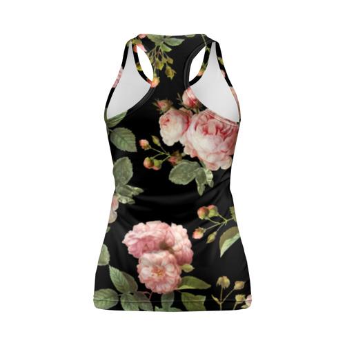 Женская майка 3D спортивная  Фото 02, Розовые розы на черном как у Тайлера