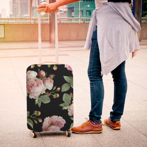 Чехол для чемодана 3D Twenty One Pilots, розы как у Тайлера Фото 01
