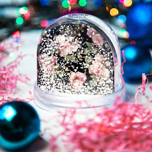 Водяной шар со снегом  Фото 04, Розовые розы на черном как у Тайлера