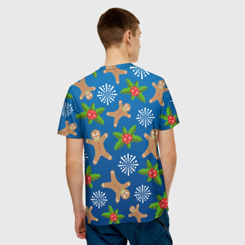 Мужская футболка 3D  Фото 02, Новогодний узор