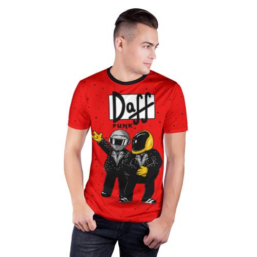 Мужская футболка 3D спортивная  Фото 03, Daff Punk