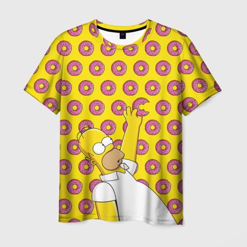 Мужская футболка 3D Пончики Гомера Симпсона