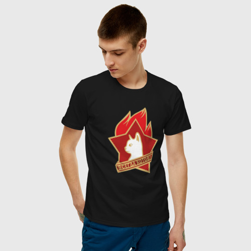 Мужская футболка хлопок Всегда котов Фото 01
