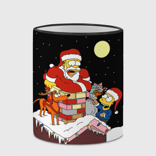 Кружка с полной запечаткой Симпсон - Санта Клаус Фото 01