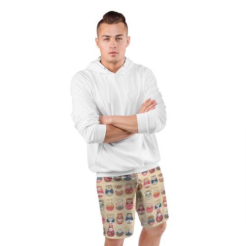 Мужские шорты 3D спортивные  Фото 05, Матрешки