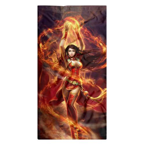 Бандана-труба 3D  Фото 07, Девушка в огне