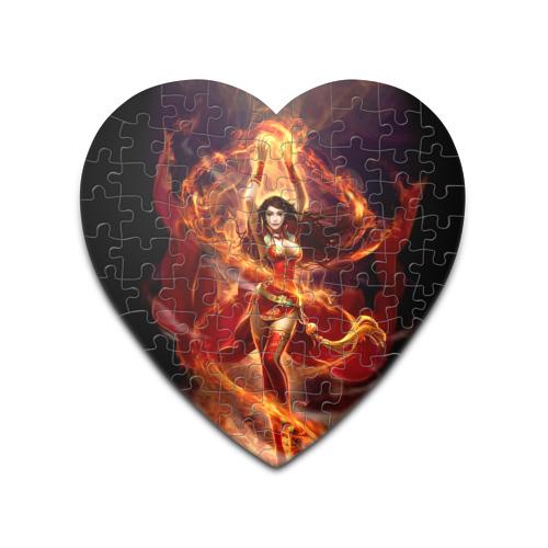 Пазл сердце 75 элементов  Фото 01, Девушка в огне