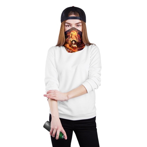 Бандана-труба 3D  Фото 02, Девушка в огне