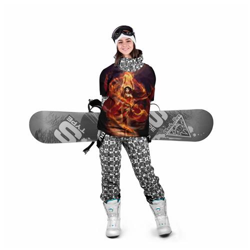 Накидка на куртку 3D  Фото 05, Девушка в огне