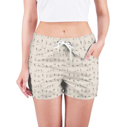 Женские шорты 3D  Фото 03, Скелеты и йога