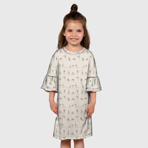 Детское платье 3D  Фото 01, Скелеты и йога
