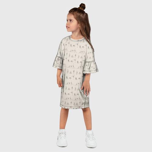 Детское платье 3D  Фото 03, Скелеты и йога