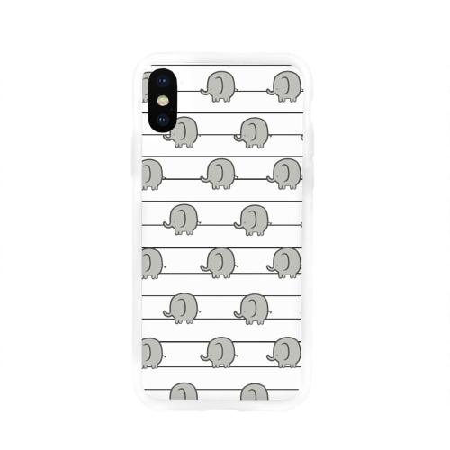Чехол для Apple iPhone X силиконовый глянцевый  Фото 01, Милые слоны