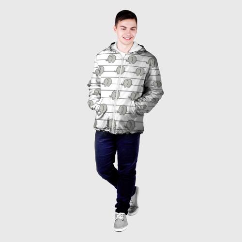 Мужская куртка 3D  Фото 03, Милые слоны