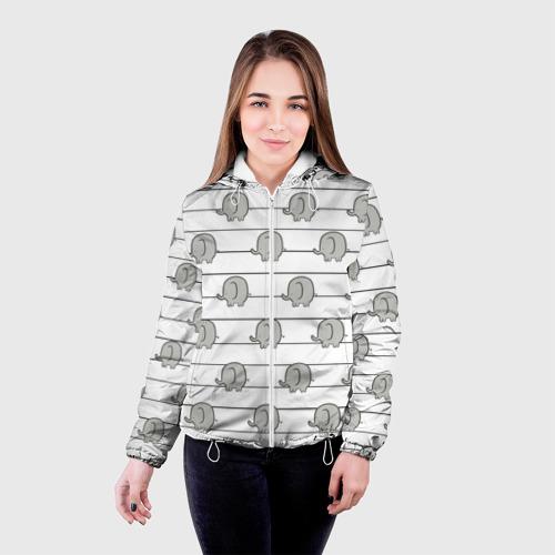 Женская куртка 3D  Фото 03, Милые слоны