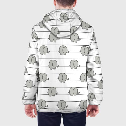 Мужская куртка 3D  Фото 05, Милые слоны