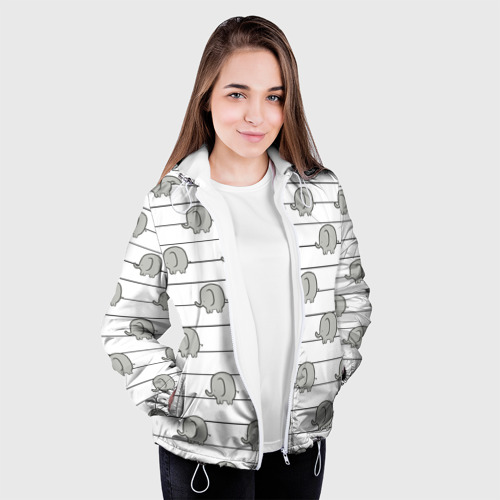 Женская куртка 3D  Фото 04, Милые слоны