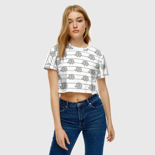 Женская футболка Cropp-top Милые слоны Фото 01