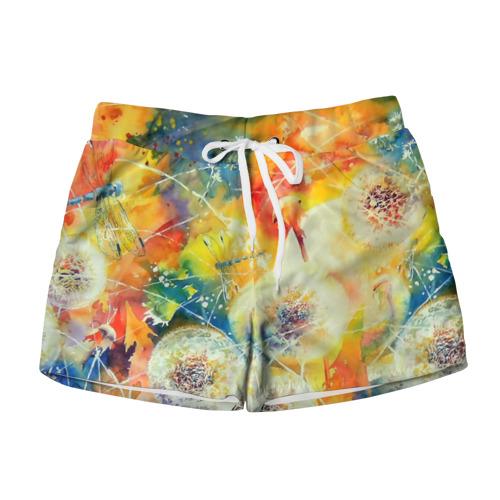 Женские шорты 3D  Фото 01, Одуванчики