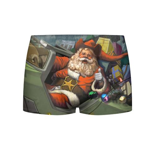 Мужские трусы 3D  Фото 01, Дед Мороз
