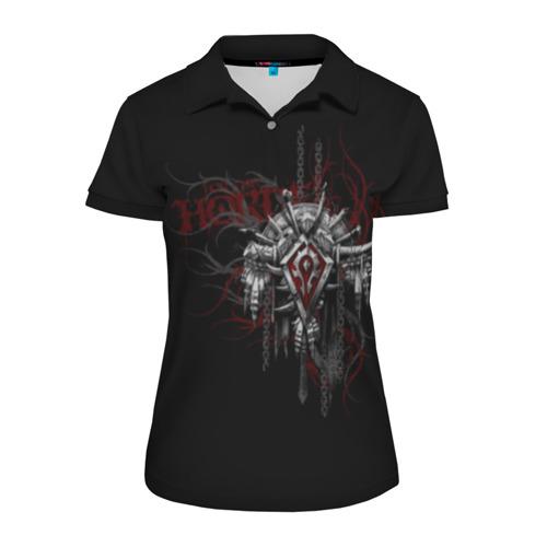 Женская рубашка поло 3D Орда