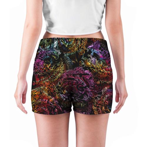 Женские шорты 3D  Фото 04, Радужные монстры