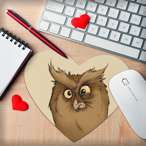 Коврик сердце  Фото 02, Грустная сова
