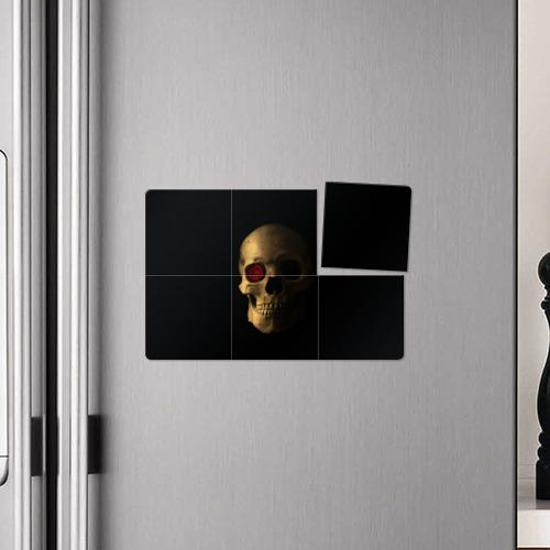 Магнитный плакат 3Х2  Фото 04, Череп и роза