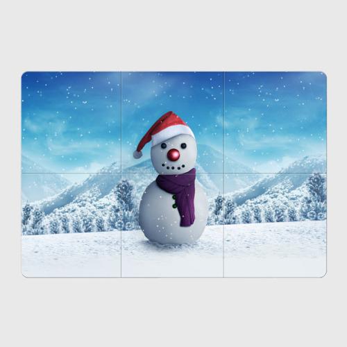 Магнитный плакат 3Х2  Фото 01, Снеговик