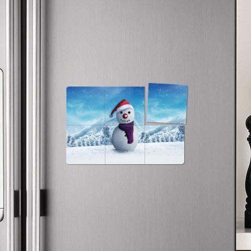Магнитный плакат 3Х2  Фото 04, Снеговик