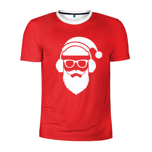 Мужская футболка 3D спортивная  Фото 01, Дед мороз