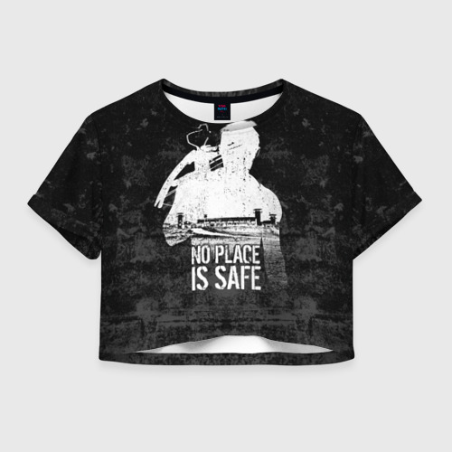Женская футболка Cropp-top No Place is Safe Фото 01