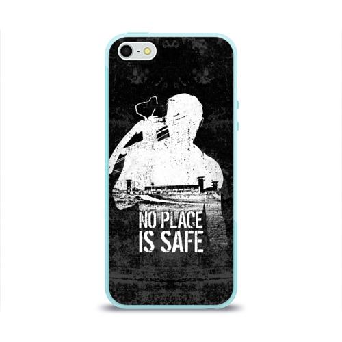 Чехол для Apple iPhone 5/5S силиконовый глянцевый No Place is Safe Фото 01