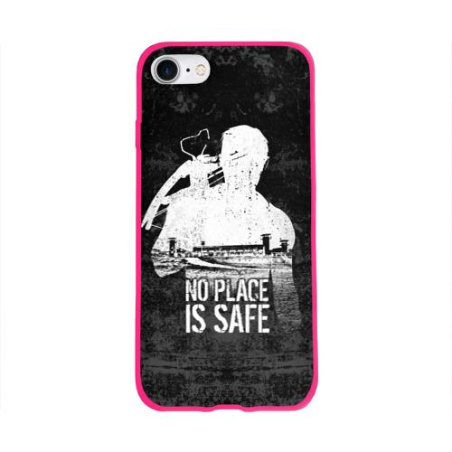 Чехол для Apple iPhone 8 силиконовый глянцевый No Place is Safe Фото 01