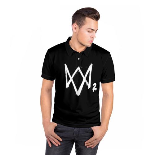 Мужская рубашка поло 3D  Фото 05, Watch Dogs 2 лого