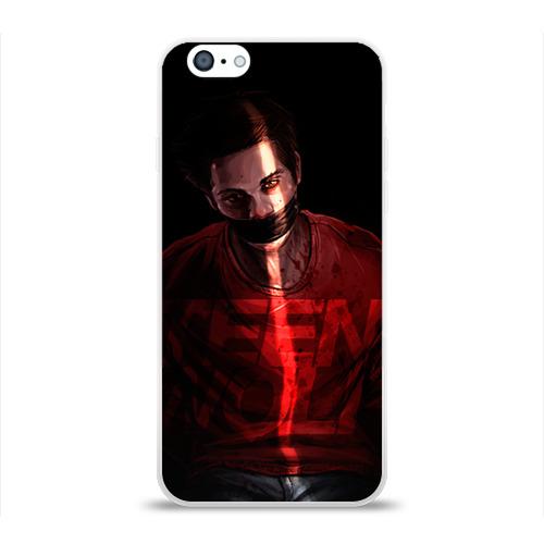 Чехол для Apple iPhone 6 силиконовый глянцевый Волчонок