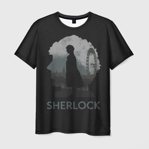 Мужская футболка 3D  Фото 01, Sherlock World
