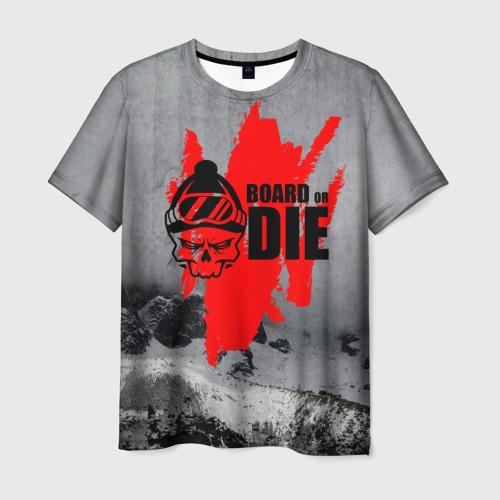 Мужская футболка 3D Snowboarding