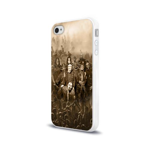 Чехол для Apple iPhone 4/4S силиконовый глянцевый  Фото 03, SlipKnot